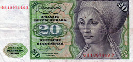 Billet De 20 Mark Du 1 Juin 1977 - - 20 Deutsche Mark