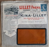 20175# SEMEUSE LETTRE PUBLICITE LILLET KINA ILLUSTREE Obl PODENSAC GIRONDE - Postmark Collection (Covers)