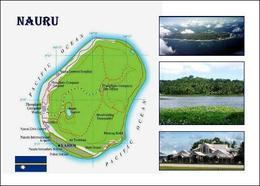 Nauru Island Country Map New Postcard Landkarte AK - Nauru
