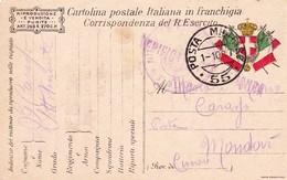 (DU)  1  OTTOBRE  1917  POSTA MILITARE     55 - War 1914-18