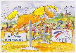 Carte Invitation Fédération Française D'équitation - Le Poney C'est Trop Top ! - Equitation