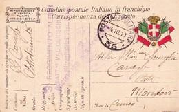 (EA)  4  OTTOBRE  1917  POSTA MILITARE     55 - Guerra 1914-18