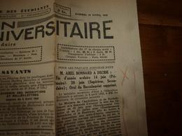 10 Avr 1943 INFO-UNI: Aidez Aux Travaux Des Champs! ; Croyez-vous Que Je Ne Porte Pas Mon Fardeau ; Paroles Du CHEF;etc - Newspapers