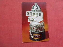 Ezra Brooks Whiskey  Decanter-- State Liquors  Big Daddy's Lounges    >> Ref 3378 - Advertising