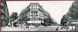 PARIS - Carte Lettre Panoramique - Boulevard Barbés - Carte Double 11 X 28 Cm - France