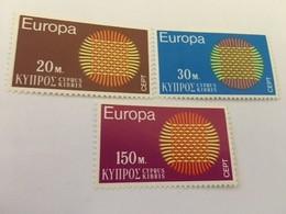 Cyprus Europa 1970 Mnh  #ab - Unused Stamps