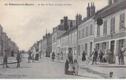 89 - VILLENEUVE LA GUYARD : La Rue De Paris Direction De Paris - CPA - - Villeneuve-la-Guyard