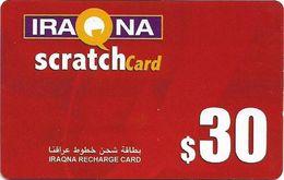 Iraq - Iraqna - Scratchcard Red, Exp. 01.08.2005, Prepaid 30$, (Type #1), Used - Iraq