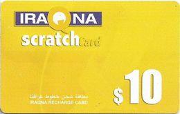 Iraq - Iraqna - Scratchcard Yellow, Exp. 31.12.2005, Prepaid 10$, Used - Irak