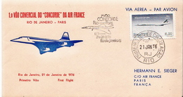 Postal History Cover: Brazil Stamp On Special Cover - Concorde
