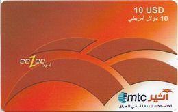 Iraq - Mtc - EeZee, Prepaid 10$, Used - Irak