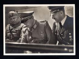 T04-GERMAN EMPIRE-MILITARY PROPAGANDA POSTCARD ADOLF HITLER-GORING-MUSSOLINI.1942.WWII.DEUTSCHES REICH.POSTKARTE.Carte - Duitsland