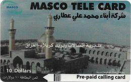 Iraq - Masco - Mosque #2, Prepaid 10$, Used - Iraq