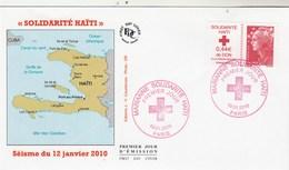 France FDC 2010 Yvert  4434 Solidarité Haïti - 2010-....