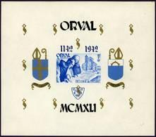 Belgique Belgie Orval Bloc 25 Blok 25 Neuf** Charnière 1941 - Blocchi 1924 – 1960