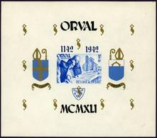 Belgique Belgie Orval Bloc 25 Blok 25 Neuf** Charnière 1941 - Blocks & Sheetlets 1924-1960