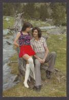 91987/ COUPLE, Mini Jupe Et Cuissardes, Années 70 - Couples