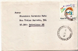 Postal History Cover: Brazil Stamp On 2 Covers - Telecom