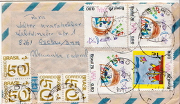 Postal History Cover: Brazil Stamps On Cover - Telecom