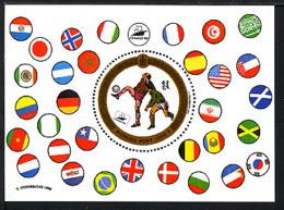 MONGOLIE 1998, Coupe Monde Football France 98,  Drapeaux, 1 Bloc, Neuf / Mint. R1095 - Fußball-Weltmeisterschaft