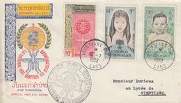Enveloppe  FDC   1er    Jour    LAOS    Eradication  Du  Paludisme    1962 - Laos