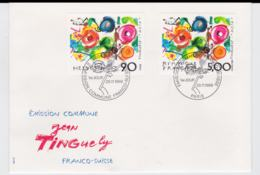 France & Switzerland FDC 1988 Jean Tinguely (G68-1) - Joint Issues