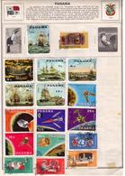 Panama 1966/1969 Used Stamp Scott 485-485e Sailing Ships Issues On (Harris Page) With Space Exploration Sc C365 A-f Bac - Panama