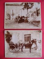 Rare 2 Grandes Photos Condom Gers A. Et E. Naples Maire Et Député Carriole - Photographs