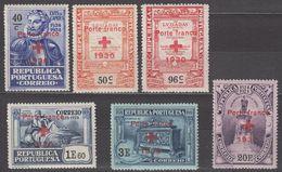 Portugal Red Cross Society 1930 Sc# 1S24-1S29 MH - 1910-... Republic
