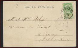 Postkaart Van TOURNAI - La Gare Nels Série 48 N° 68 Met Nr. 56 ; Staat Zie 2 Scans ! - 1893-1907 Armoiries