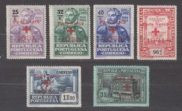 Portugal Red Cross Society 1931 Sc# 1S30-1S35 MH - 1910-... Republic