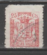 ANDORRA CONSELL GENERAL DE LES VALLS 25 Cts. USADO   (S.29) - Spanish Andorra