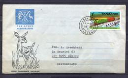 Tanzania,  1976, Aerogramm   To Zürich Switzerland - Tanzania (1964-...)