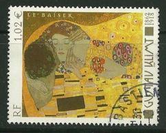 2002 Yt 3461 (o) Gustav Klimt 1862-1918 «Le Baiser» - France