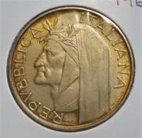 ITALY 500 LIRE 1965 DANTE ALIGHIERI. AUNCIRCULATED. SILVER, ARGENT. ITALIE. - 1946-… : République