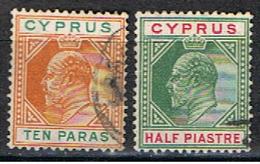 (XIP 141) CYPRUS // YVERT 45, 46 // 1904-06 - Chypre (...-1960)