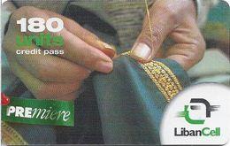 Lebanon - LibanCell - Premiere - Handicrafts - Sewing, Exp. 18.12.2004, Prepaid 180U, Used - Libanon