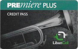 Lebanon - LibanCell - Premiere Plus - Saxophone (Dark Green), Exp. 26.01.2001, Prepaid, Used - Lebanon