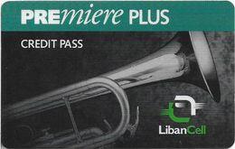 Lebanon - LibanCell - Premiere Plus - Saxophone (Dark Green), Exp. 28.12.2000, Prepaid, Used - Liban