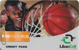Lebanon - LibanCell - Premiere Plus - Sports - Basketball Exp. 10.11.2001, Prepaid, Used - Libanon