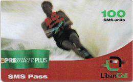Lebanon - LibanCell - Premiere Plus - Sports - Water Ski, Exp. 19.04.2002, Prepaid 100U, Used - Libanon