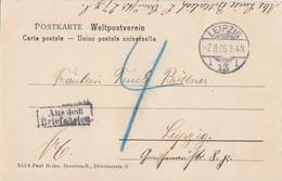 DR AK Siebenlehn Ohne Marke Nachporto Aus Dem Briefkasten - Briefe U. Dokumente