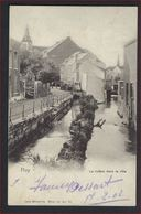 Postkaart Van Huy - La Riviere Dans La Ville ( Nels Serie 55 N° 61 ) Met Nr. 56 ; Staat Zie 2 Scans ! - 1893-1907 Armoiries