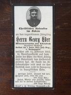 Sterbebild Wk1 Bidprentje Avis Décès Deathcard RIR1 FAMPOUX 11. Februar 1915 Aus Eckersbach - 1914-18