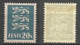 ESTLAND Estonia 1928 Michel 82 * Dünnes Papiertype /thin Paper Type - Estland