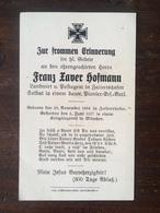 Sterbebild Wk1 Bidprentje Avis Décès Deathcard PIONIER Ersatz Bataillon München Aus Zaisertshofen - 1914-18