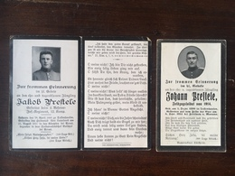 Sterbebild Wk1 Bidprentje Avis Décès Deathcard Brüder RIR2 BAILLEUL ARRAS 1915 + FEUTLNOY MANANO 1914 Aus Tussenhausen - 1914-18