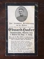 Sterbebild Wk1 Bidprentje Avis Décès Deathcard RIR3 BAILLEUL St. Laurent Blangy Aus Tussenhausen - 1914-18