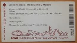 BONO 3 ENTRADAS CIUDAD DE LAS ATES Y LAS CIENCIAS. OCEANOGRAFIC. HEMISFERIC Y MUSEO. VALENCIA - ESPAÑA. - Tickets - Entradas