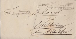 Preussen Brief R2 Dorsten 12.4. Gel. Nach Welheim - Preussen